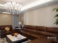 三室客厅棕色休闲沙发图片装修效果图