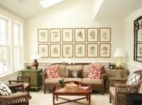 美式设计客厅相片墙?#35745;?#22823;全2017效果图