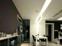 普通家庭现代中式客厅照片背景墙装潢设计效果图