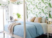 清新客厅背景墙三居单身公寓卧室床不同以往的视觉洗礼效果图大全