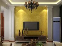 家居摆件置物架单人沙发家具吊灯沙发茶几简约欧式风格客厅电视背景墙装修效果图简约欧式风格电视柜图片