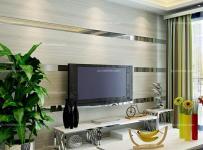 電視背景墻白色電視柜100㎡茶幾背景墻現代茶幾客廳背景墻將條紋運用在時尚的客廳裝修中效果圖欣賞