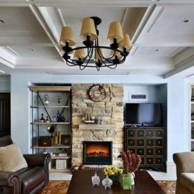 客厅石膏板顶装修效果图
