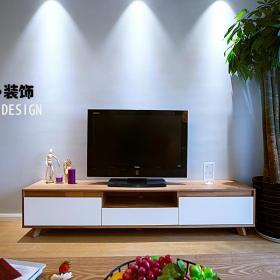 盆栽电视柜二居简约80㎡简洁自然的客厅电视柜图片效果图大全