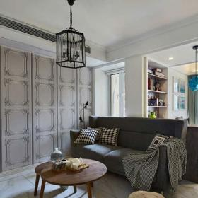 實用30-60平米簡約風格灰色調客廳裝修效果圖