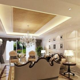 客厅扣板吊顶 欧式吊顶效果图