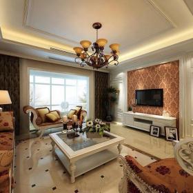 吊燈燈具壁紙吊頂家具裝飾柜歐式客廳客廳家具歐式風格客廳電視背景墻裝修效果圖歐式風格電視柜圖片