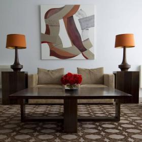 最新客厅沙发无框画设计图片装修效果图