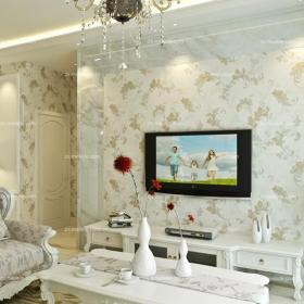 背景墻120㎡大戶型客廳客廳背景墻歐式風格電視背景墻設計效果圖