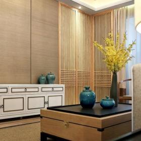 中式设计客厅样板房装修效果图片欣赏