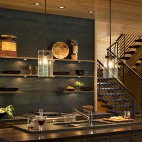 歐式風格客廳50平復式豪華型旋轉樓梯設計效果圖