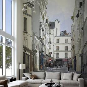 挑高客厅墙绘图片大全效果图
