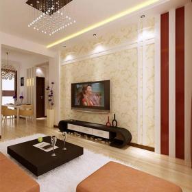 吊顶电视背景墙现代风格客厅电视墙装修效果图