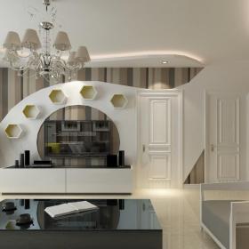 现代客厅博古架效果图图片
