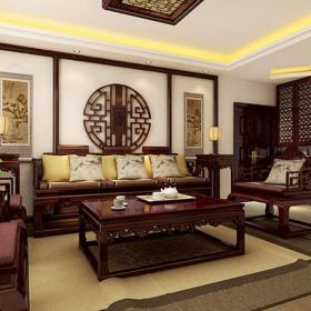 沙發背景墻中式客廳客廳背景墻沙發背景效果圖欣賞