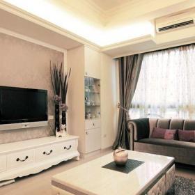 現代歐式客廳電視背景墻壁紙圖片效果圖
