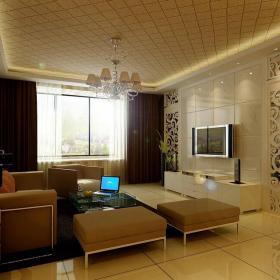 现代风格客厅石材背景墙装修效果图