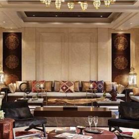 180㎡四居室新中式风格小型别墅装修效果图片新中式风格客厅沙发图片6
