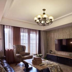 后现代高大客厅电视背景墙效果图