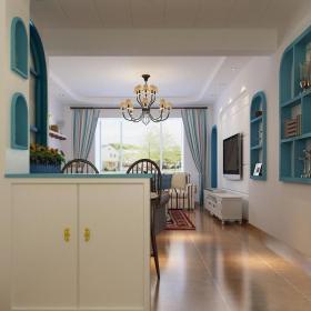 地中海40平方小户型客厅隔断装修图效果图大全