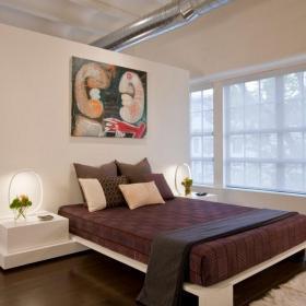 卧室隔断装修效果图 卧室客厅隔断效果图