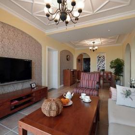 實木茶幾電視柜混搭家具沙發三居混搭客廳家具樸素自然的客廳裝修圖片效果圖大全