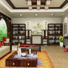中式风格客厅装修效果图中式风格博古架图片