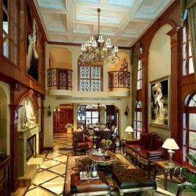 新中式别墅客厅装修效果图片效果图