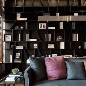 四居混搭客厅博古架装修设计效果图大全