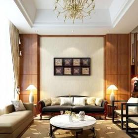 新中式风格大气儒雅新中式客厅装修效果图