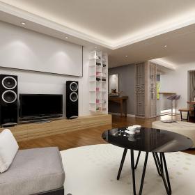 置物架沙发茶几现代简约家庭影院简单时尚客厅家具图片装修效果图