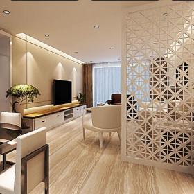 居民楼椅凳客厅隔断客厅电视柜新房优雅时尚的雕花镂空隔断装修设计效果图大全