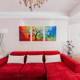 婚房布置创意生活用品吊顶背景墙大户型沙发吊顶展现个性的客厅装修效果图欣赏