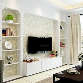 電視柜茶幾背景墻現代客廳茶幾客廳背景墻鑿出個性電視背景墻效果圖