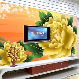 石材背景墙电视柜客厅家具简约风格客厅玫瑰金电视背景墙装修效果图