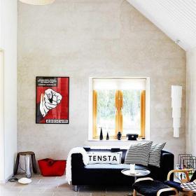 客廳沙發簡約110㎡溫暖小閣樓,照亮你的心裝修效果圖