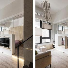 30-60平米現代簡約風格實用挑高簡約客廳裝修效果圖