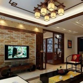 简欧风格挑高客厅装修设计效果图