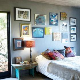 卧室客厅背景墙100㎡床头柜另类装饰之床头背景墙装修效果图