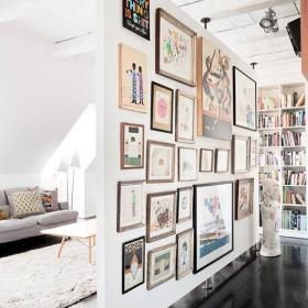 客廳背景墻北歐風格背景墻裝修效果圖