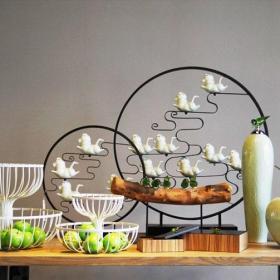 新中式风格雅致新中式客厅摆件效果图