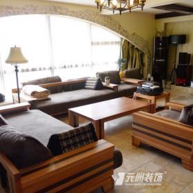東南亞風格小戶型客廳裝修圖東南亞風格沙發圖片效果圖欣賞
