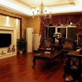 电视背景墙美式风格客厅电视墙装修图片效果图大全