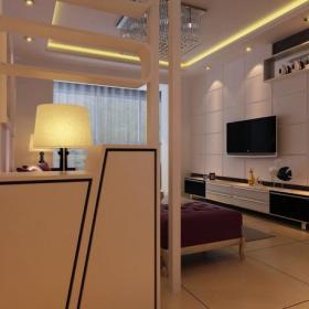 吊顶电视背景墙简约风格客厅效果图