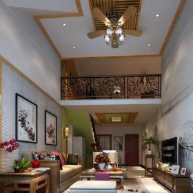 新中式风格客厅背景墙装修效果图新中式风格实木电视柜图片
