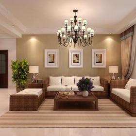 東南亞風格客廳沙發背景墻裝修效果圖東南亞風格藤椅圖片