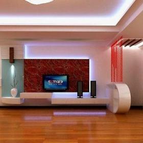 2013别墅现代客厅沙发阳台飘窗壁炉瓷砖拼接装修效果图欣赏