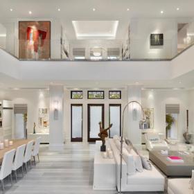 現代豪華復式住宅客廳設計圖效果圖