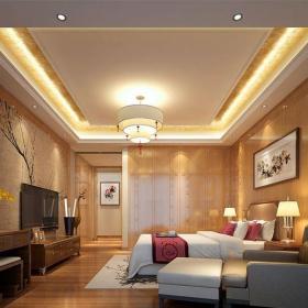 中式风格六居室客厅壁纸装修效果图