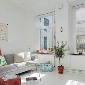 北欧设计客厅窗户图片欣赏效果图